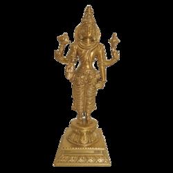 Bengaluru Bronze Lord Vishnu Narayana standing Sclupture size - 3x8.5In - 3x8.5