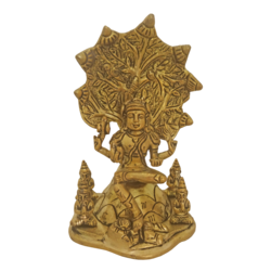 Brass Dakshinamurthy Sitting under Tree Statue  size - 4x6.5In - 4x6.5