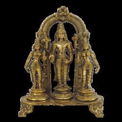 Divine Lord Venkateswara Sridevi Bhudevi Brass Statue size - 3.5x10.5In - 3.5x10.5