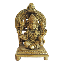 Brass Goddess Devi With Holding Lotus Bud Statue  size - 2x4.5In - 2x4.5