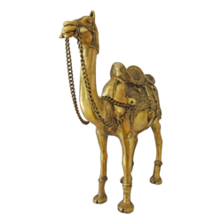 Decorative Brass Camel Figurine Showpiece size - 5x18In - 5x18