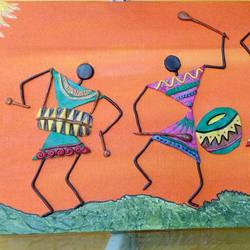 Warli mural - 20x8