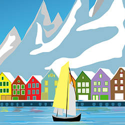 Norway art print by AdroitArt
