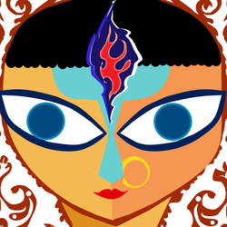 Goddess, Durga art print by AdroitArt