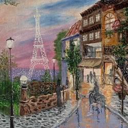 An evening in Paris  - 12x16