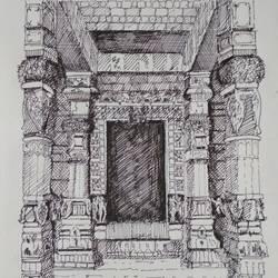 Architectural art work - 8x12