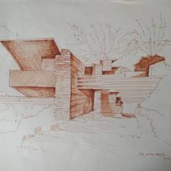 Architectural art work - 16x11