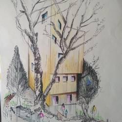 Architectural art work - 8x17