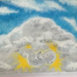 Clouds theme - 12x9.5