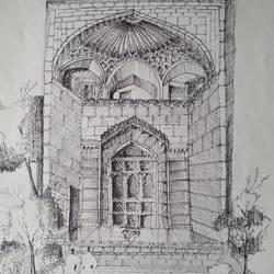 Architectural art work - 11x15