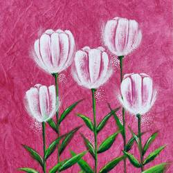 Abstract Tulip flowers - 17x13