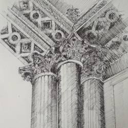 Architectural art work - 8x11