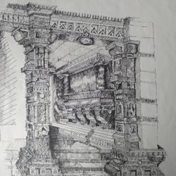 Architectural art work - 12x16