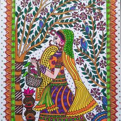 Radha In phoolbagh - 8x11
