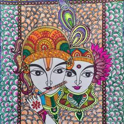 Musical Love of Radhey Krishna - 8x11