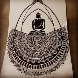 Buddha abstract - 12x16
