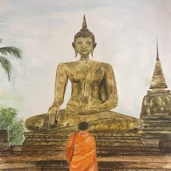 Buddha - The enlightened one  - 17x22