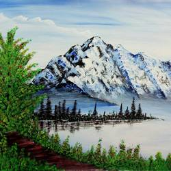 Mountain View painting  - 26x17