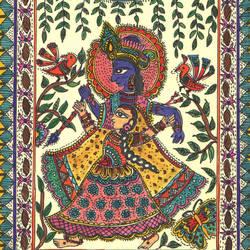 """Radha Krishna Raas"" - 8.5x11.5"
