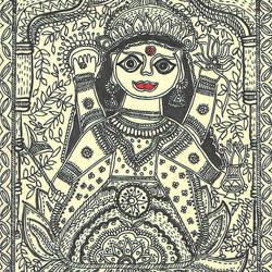 Primitive Lakshmi Maa - 8.5x11.5