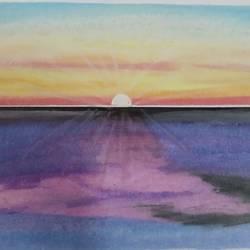 Deep Sunset  - 17x12