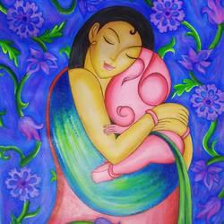 Baby Lord Ganesha - 21x24