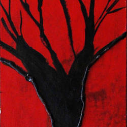 Abstract Painting of tree - 5x22