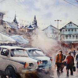 OLD CITY OF JAMMU & KASHMIR, - 16x12