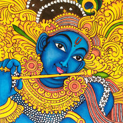 Mural Painting Krishna - 13x23