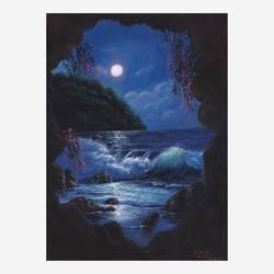 The Midnight Seascape - 12x16