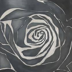 Black Rose Flower - 11.5x16