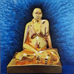 Gold effect sri swami samartha painting - 24x30