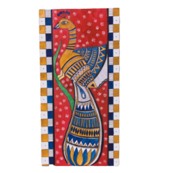 Kalamkari Peacock - 12x24