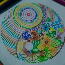 Evergreen mandala art - 8x11