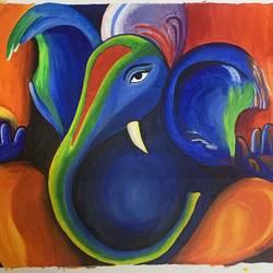 Vibrant Ganesha - 33x18