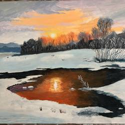 Sunset landscape / Nature/ relaxing  - 16x24