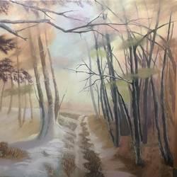 A Road To Winter Village/landscape/nature - 24x24