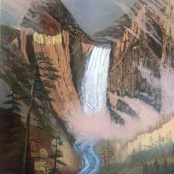 A waterfall so High - 22x28