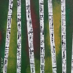 Bamboos peeking  - 12x18