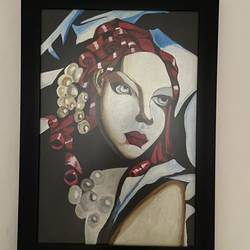 woman face beautiful painting - 14x21