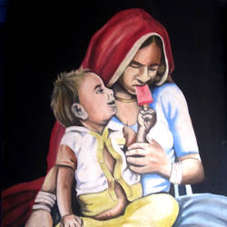 Mother Baby - 17x24