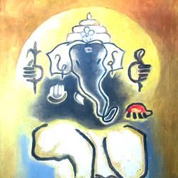 Lord Ganesh - 13x18