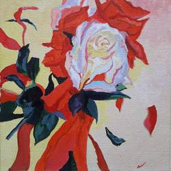 Floral art 5 - Rose size - 8x9In - 8x9