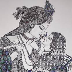 Radha krishna - 11.7x16.5