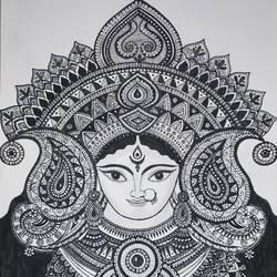 Durga maa - 11.7x16.5