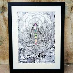 Third eye Chakra_ Detailed hand drawn illustration - 12x16.5