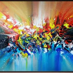 Colourful emotional waves - 42x36