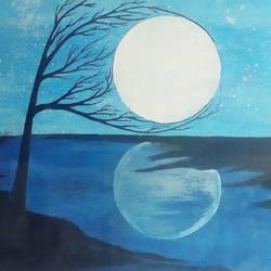 Moon painting - 16x12