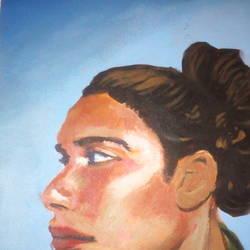 WOMEN PORTRAIT PAINTING - 8.27x11.69