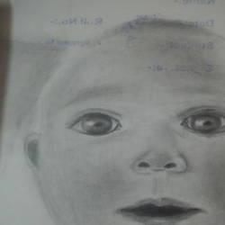 CUTE BABY DRAWING PORTRAIT - 8.27x11.69